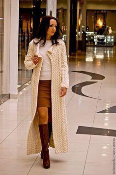 Вязаное пальто Косы, возможен вариант с длиной до колена ЦЕНА!!!! а модель-то не авторская!!!!!