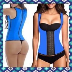 """LATEX vest train your waist corset amazing FULL LATEX VEST waist cincher/corset that can be worn under your clothes. Train your waist to be smaller, firmer, slimmer. Instantly cut 4"""" off just by wearing it. If you wear it while working out you'll see faster results. I carry the lowest prices around, see for yourself. All of my items are NWT never opened packages. Third pic is of me started at a tight M I'm wearing a small at the last hook. Will need an XS SOON! YESSS!!! Intimates & Sleepwear…"""