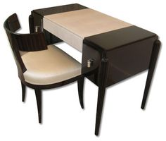 art deco small desk / make up table and chair - eclectic - side ...