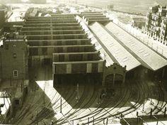 Las cocheras de metro de Cuatro Caminos en 1965. Edificio de Antonio Palacios