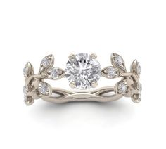 Leaf engagement ring by yerazcollection