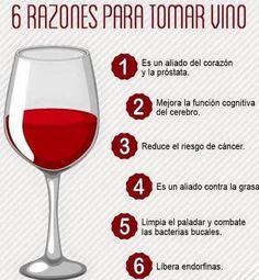 razones para tomar vino