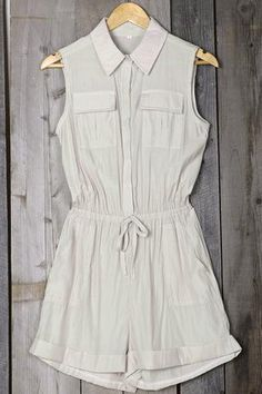 Cupshe Wait and See Shirt Romper