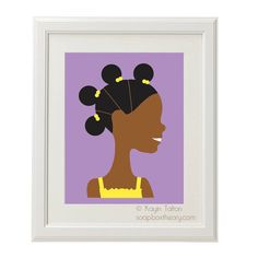 Girl in yellow with afropuffs  Customized by soapboxtheory