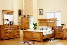 THE FURNITURE :: Solid American Oak Bedroom Set, \'Grandma\'s Attic ...