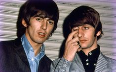 George Harrison and Ringo Starr of The Beatles during their first tour of the United States in 1964  Picture: Dr Robert Beck/Omega Auctions/PA