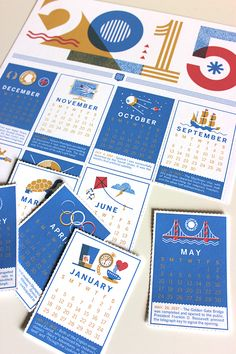 Check out these 7 striking 2015 calendar designs, learn about the designers behind them, and learn where you can get a few of them.