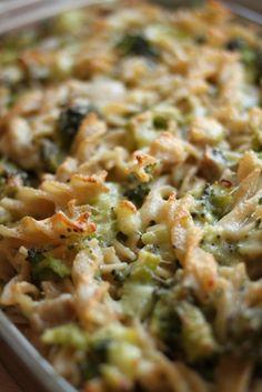 Chicken & Broccoli Pasta Casserole - gluten-free - dairy-free alternative