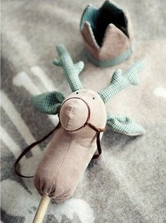 Reindeer Hobby Horse - more natural | I like it!                                                                                                                                                                                 More