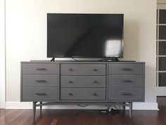 Young House Love | How To Hide TV Wires For A Cord-Free Wall | http://www.younghouselove.com