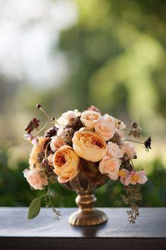 Peach floral centerpiece / Joanna Tano Photography Keywords: #weddings #jevelweddingplanning Follow Us: www.jevelweddingplanning.com  www.facebook.com/jevelweddingplanning/