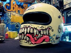 """Another """"Song of the Sausage Creature"""" inspired helmet."""