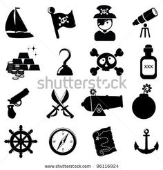 stock vector : Pirate icons
