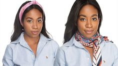 Master These 7 Cool Girl Ways To Tie A Scarf: A classic silk scarf can add some polish or a dose of cool to any look—but it's all in the styling. Here, a few tricks on how to wear this must-have accessory like a fashion editor.
