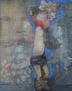 Mare Monstrum: Les peintures poignantes du périple des migrants par une artiste grecque|Georges Ranunkel Samos, Painting, How To Paint, Artist, Painting Art, Paintings, Painted Canvas, Drawings