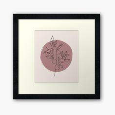 Abstract Posters, Abstract Canvas, Framed Art Prints, Poster Prints, Canvas Prints, Berry Plants, Poster Design Inspiration, Plant Leaves, Minimal