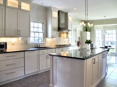 Custom Maple Painted Kitchen
