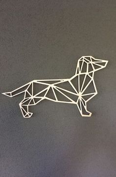Geometric Deer, Geometric Wedding, Motif Art Deco, Yarn Wall Art, Deer Silhouette, 3d Pen, Popsicle Stick Crafts, Fox Terrier, String Art
