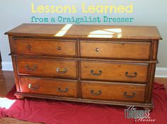 Lessons Learned from a Craigslist Dresser | TheTurquoiseHome.com