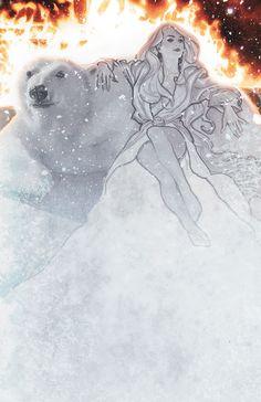 Fables: Snow Queen by Adam Hughes Adam Hughes, Best Comic Books, Comic Books Art, Illustrations, Illustration Art, Emma Frost, Snow Queen, Comic Book Covers, Beauty Art