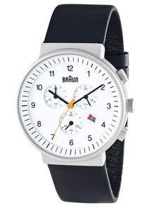 Braun Chronograph Watch White by Dietrich Lubs and Dieter Rams