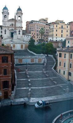 Spanish Steps, Rome Italy - they were working on them when we were there and fenced off...how pretty