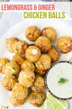 These Ginger and Lemongrass Chicken Meatballs are perfect for kids. They are succulent, deliciously fragrant, the perfect size for dipping and are great for adding to a lunchbox. #fingerfood #chickenball #meatball #kidsfood