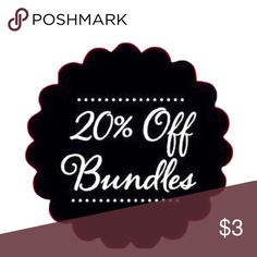 2 Or More Items Bundled=20% off!! ❤️ Bundle 2 or more items and receive 20% off!! Please feel free to ask questions and bundle your likes (1 or more) and I will send you a private offer! 😊 Tart Other