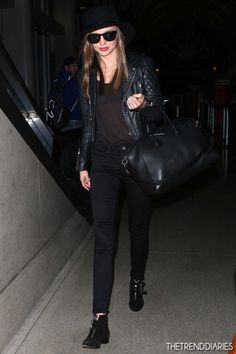 Miranda Kerr at LAX Airport in Los Angeles, California - December 2, 2012