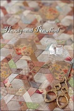 Pink Caramel's hexagonal pinwheel