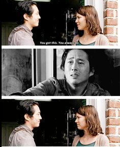 "The Walking Dead 5x14 ""Spend"" Maggie Greene and Glenn Rhee"