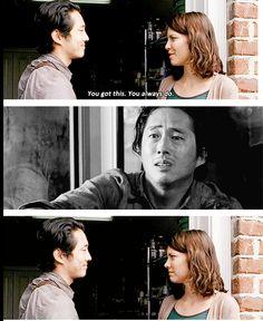 "The Walking Dead 5x14 ""Spend"" Maggie Greene and Glenn Rhee"
