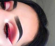 Gorgeous Makeup Ideas My Top Makeup Eye Looks, Cute Makeup, Glam Makeup, Gorgeous Makeup, Pretty Makeup, Skin Makeup, Eyeshadow Makeup, Makeup Style, Red Glitter Eyeshadow