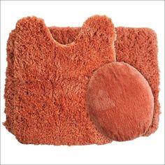 rust bathroom rugs #BathroomRugs Bathroom Red, Bathroom Rug Sets, Bathroom Ideas, Full Comforter Sets, Bidet, Bath Mat Sets, Rust Color, Color Blue, Bath Rugs