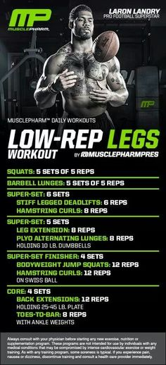 MusclePharm Low Rep Legs