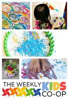 18+ Preschool Art Activities - #kids #parenting #kbn #binspiredmama