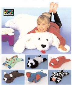 Rare HTF PILLOW ANIMALS  Sewing Pattern - last one!