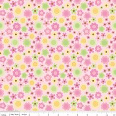 Sweet Baby Girl Pink Floral Fabric