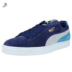 PUMA Suede Classic Sneaker,Medieval/Gray/Vivid Blue,7.5 M US Women's/6 M US Men's - Puma sneakers for women (*Amazon Partner-Link)
