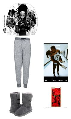 """""""my baby keeping me safe"""" by kekeisaballer ❤ liked on Polyvore featuring moda, Topshop, Bearpaw, Incipio, women's clothing, women, female, woman, misses y juniors"""