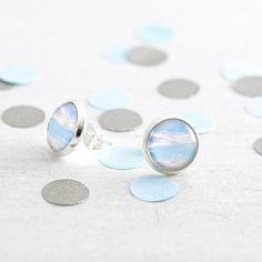 Blue Sky stud earrings - 12mm studs