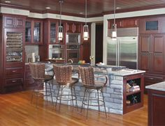 Log Home, Kitchen