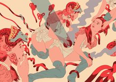 Angie Wang - really interesting colour palette from a work she did for NoBrow.