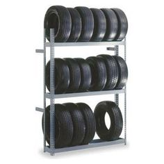 "Edsal TRB6012 Industrial Gray Heavy Duty Steel Rivet Lock Boltless Tire Rack, 1000lbs Capacity, 60"" Width x 84"" Height x 12"" Depth by Edsal. $117.81. Heavy-duty strength to provide safe and dependable storage for automobile and light truck tires. Safely stores and displays automobile and light truck tires. Boltless rivet lock design allows easy assembly using only a rubber mallet no nuts or bolts needed. Heavy-duty steel construction with capacities up to 1000 lbs. per level. H..."