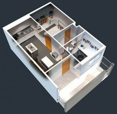50 One Bedroom Apartment& Plans Design A Space, Plan Design, Design Case, Home Design, 4 Bedroom Apartments, One Bedroom Apartment, Apartment Design, Studio Apartments, Apartment Ideas