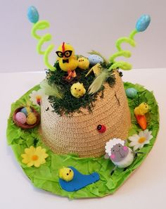 Easter Bonnet —  (952x1200) Birthday Cake, Easter, Desserts, Food, Tailgate Desserts, Birthday Cakes, Deserts, Essen, Dessert