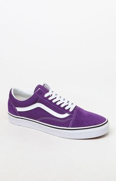 Vans Old Skool Purple Shoes - Mens Purple Vans, Purple Sneakers, Purple Shoes, Cute Vans, Cute Shoes, Women's Shoes, Sneakers Fashion, Fashion Shoes, Mens Fashion