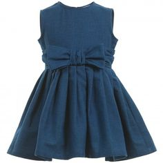 Il Gufo - Pink Cotton Dress with Bow | CHILDRENSALON
