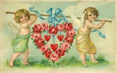 Cartes postales anciennes: coeur