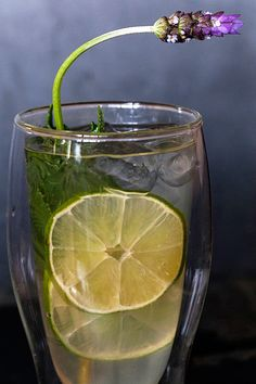 Lavender Limeade photo and recipe by Jackie Alpers on Jackie's Happy Plate